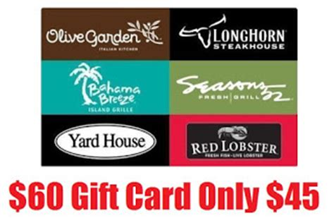 Use Red Lobster Gift Card At Olive Garden - 60 olive garden red lobster longhorn steakhouse seasons 52 yard house or bahama