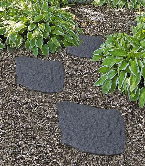 rubber st one day service recycled rubber flagstone stepping gardeners