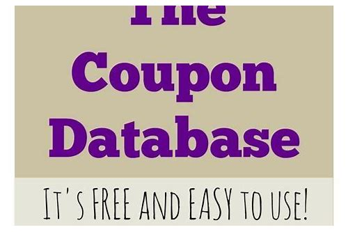search coupon database