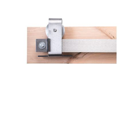 ceiling mount barn door hardware rustica hardware 84 in brushed steel sliding barn door