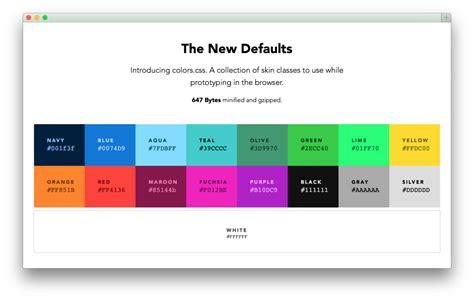web color names colors default web palette replacement progville