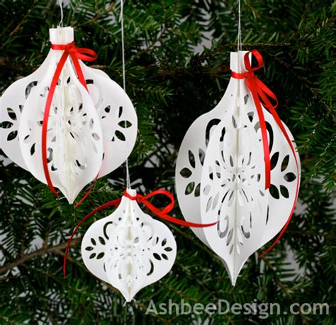 white paper christmas decorstions ashbee design diy paper ornament silhouette