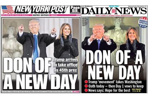 donald trump recent news trump inauguration new york s tabloids unite on headline