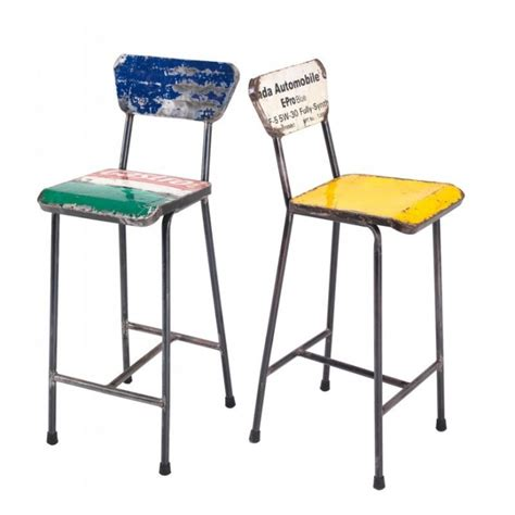 recycled bar stools recycled metal bar stools urban oil drum reclaimed made from steel