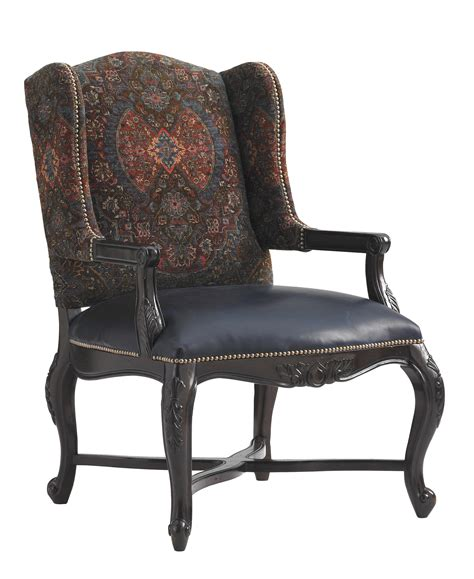 Bahama Recliner by Bahama Home Island Traditions Traditional Keswick Chair With Carved Wood And Fabric