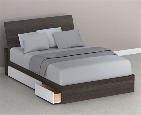 bed with storage in headboard nexera storage bed with headboard n 226033 225930