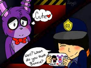 Fnaf yaoi couple bonnie x mike by zeny doodles