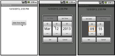 android how to set fragmentdialog size to wrap to android get date and time picker value from a single