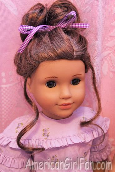 Doll Hairstyles For Curly Hair by Fancy Bun Hairstyles For Curly Doll Hair Americangirlfan
