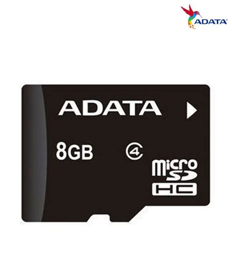 Memory Card Adata 8gb Adata 8gb Micro Sd Card Class 4 Memory Card Buy Adata