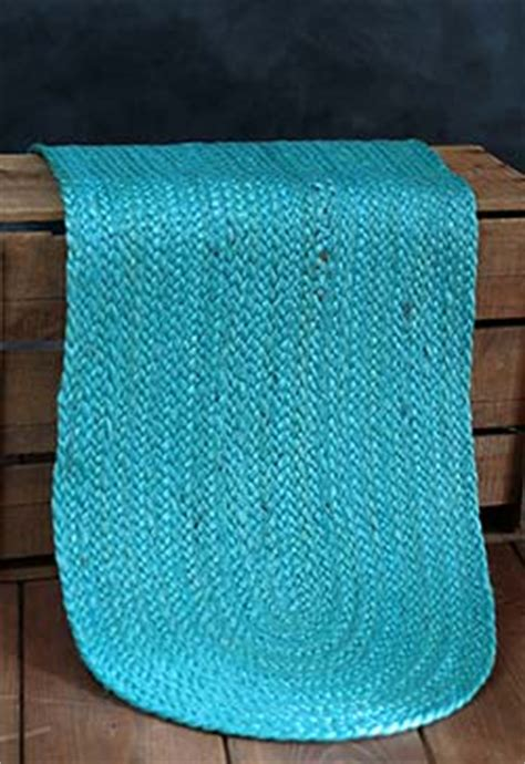 48 inch table runner teal jute 48 inch tablerunner by nancy s nook the