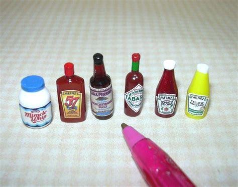 dollhouse items miniature condiment assortment 2 6 items dollhouse