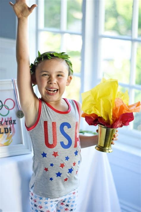 gold   olympics themed kids party project nursery