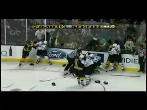 hockey bench clearing brawls boston vs dallas bench clearing brawl and many more fights