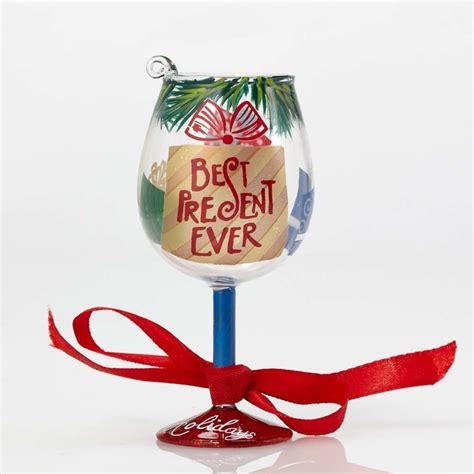 wine glass ornaments best present mini wine glass ornament by