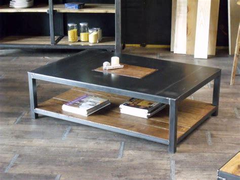 Wonderful Table Gigogne En Verre #9: 234Table-basse-rectangle-bois-metal.JPG