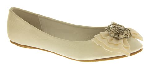 bridal flat shoes ivory ivory dolly shoes flat ballerina bridal pumps