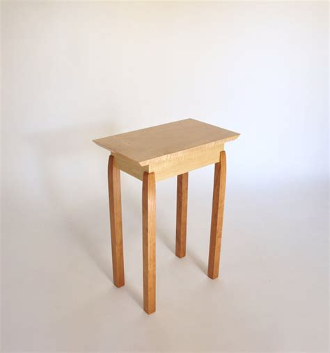 thin accent table narrow end table tiger maple cherry accent table small end