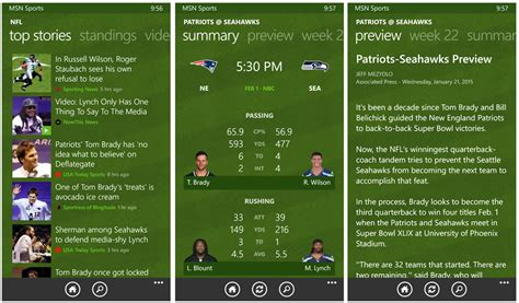 bing sports windows phone apps to help you tackle super bowl sunday