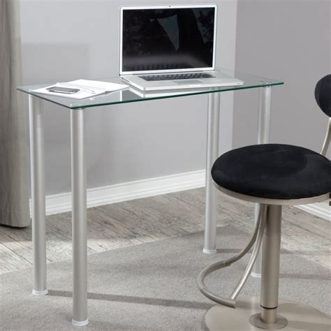 Glass Desk Small Make The Small Office Desk As Superb As You Want Midcityeast