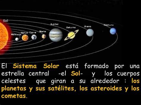 cuales son los planetas que giran alrededor del sol sistema solar