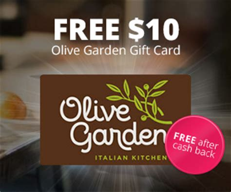Olive Garden E Gift Card - topcashback 10 olive garden gift card free myfreeproductsles com