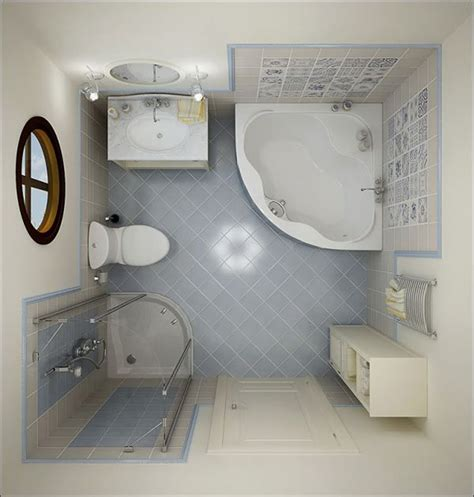 Corner bathtub on the cream base feat glass shower room corner