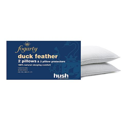 Asda Travel Pillow by Fogarty Duck Feather Pillow Protectors 2 Pack Pillows Asda Direct