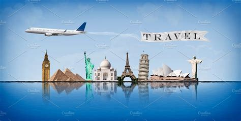 Traveling Around The World message concept travel around world illustrations