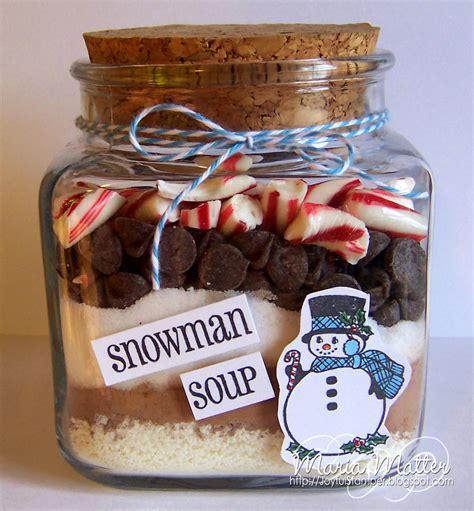 christmas soup in a jar snowman soup in a jar