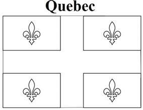 geography blog quebec flag coloring page