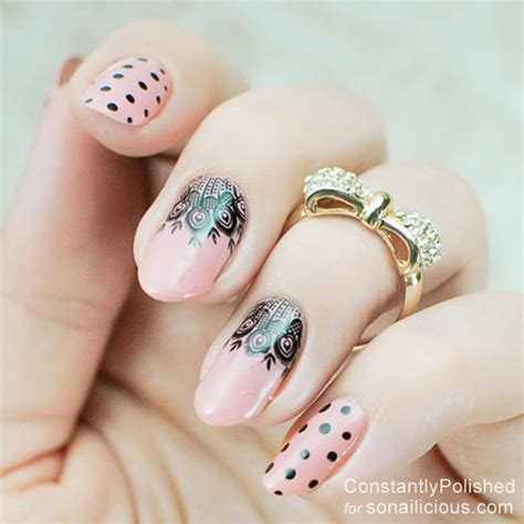 easy nail art lace easy manicure ideas lace nails 6 sonailicious
