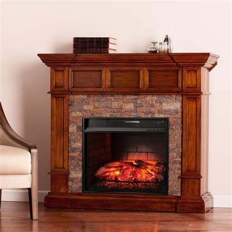 faux electric fireplace amesbury 45 75 in w faux corner infrared electric