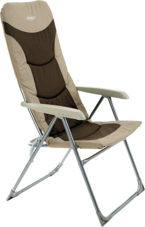 High Back Folding Garden Chairs by Outback High Back Recliner Folding Chair Beige Brown