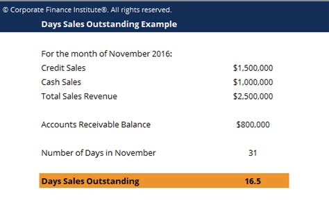 days sales outstanding days sales outstanding template download free excel template