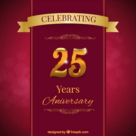 Twenty fifth anniversary card Vector   Free Download