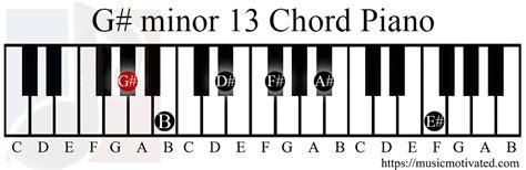 G#min13 chord G Sharp Minor Triad
