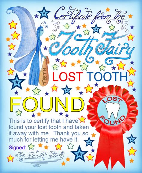 tooth fairy certificate lost tooth  rooftop post