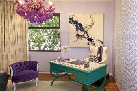 Purple Office Decor | purple home office photos hgtv