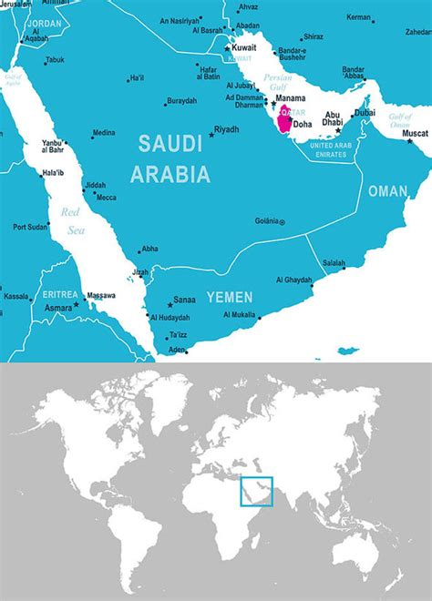 middle east map doha qatar map where is qatar facts on doha and the gulf
