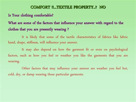 what is physical comfort comfort properties of fabrics