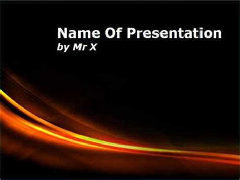 powerpoint templates free download fire curves of fire powerpoint template