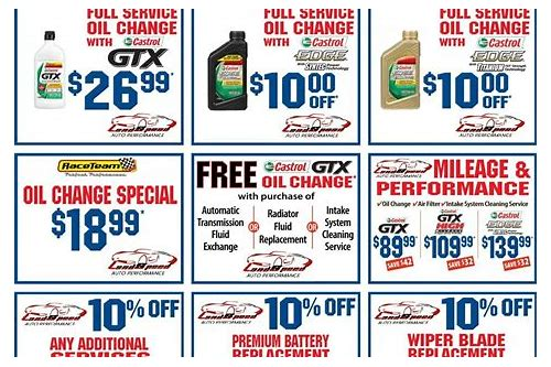 pro oil change coupon brampton