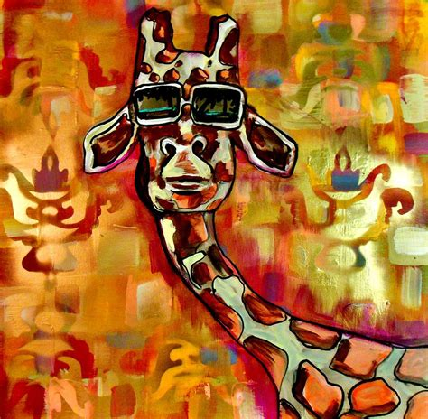 cool paintings cool giraffe painting by kimberly dawn clayton