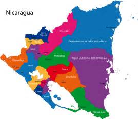south america map nicaragua regions of nicaragua