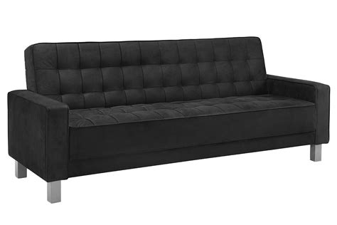 futon black black contemporary sofa bed montrose convertible sofa