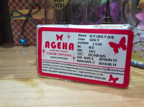 Soflens Diary Gray review ageha icy grey soflens venny firstyani