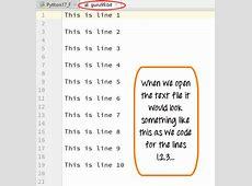 Python File Handling: Create, Open, Append, Read, Write Range List Python