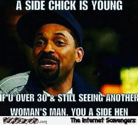 Side By Side Meme - a side chick is young funny meme pmslweb