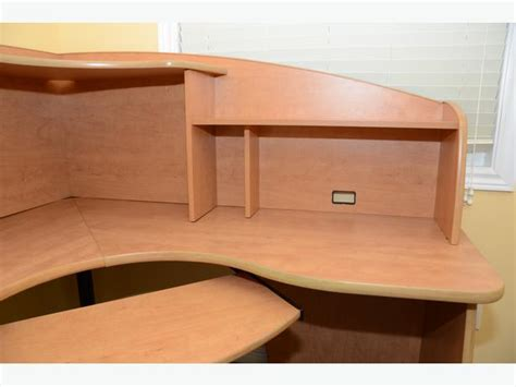 Corner Desk Keyboard Tray Corner Office Desk W Hutch And Keyboard Tray Nepean Ottawa Mobile